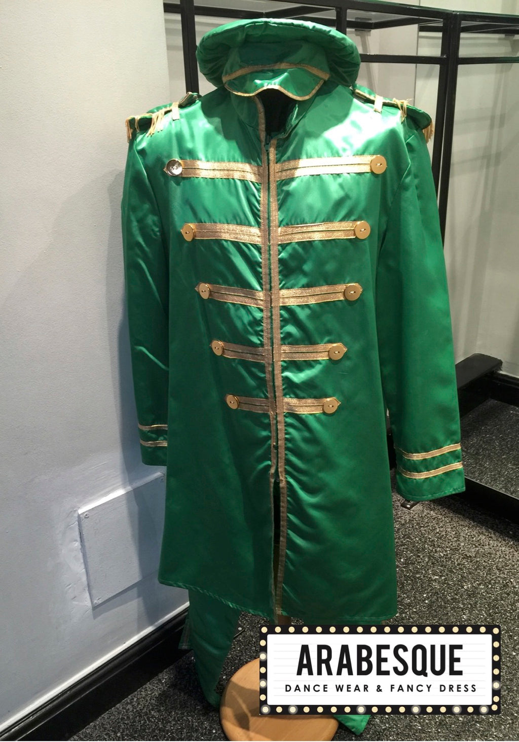 Satin Green St Peppers Suit - Circus Style Jacket
