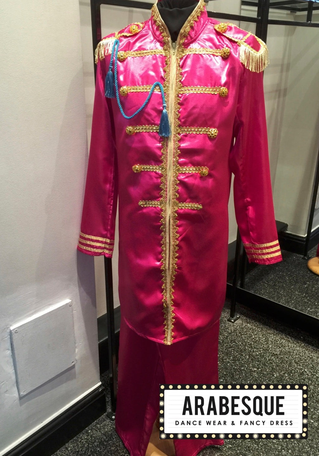 Satin Pink St Peppers Suit - Circus Style Jacket