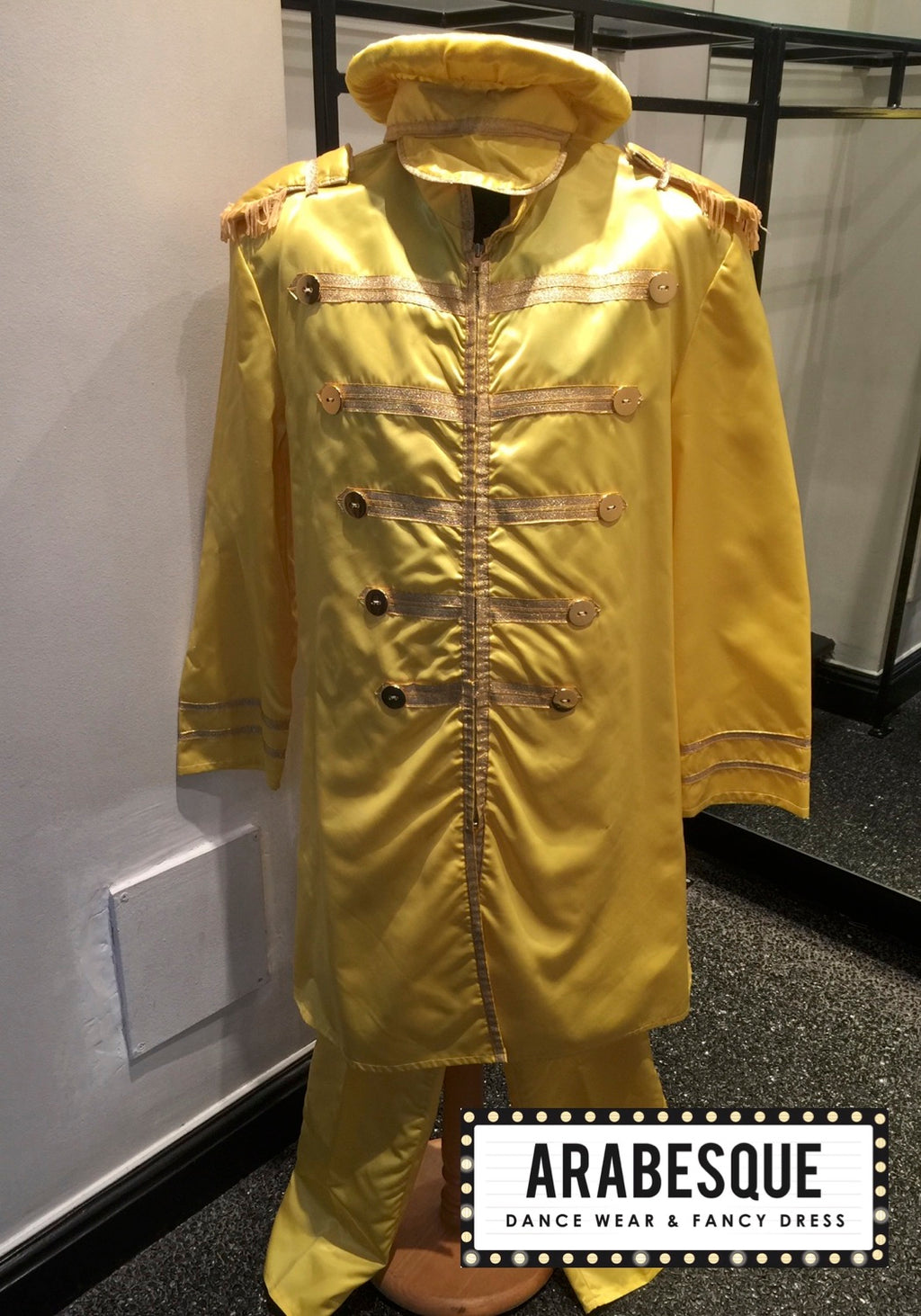 Satin Yellow St Peppers Suit - Circus Style Jacket