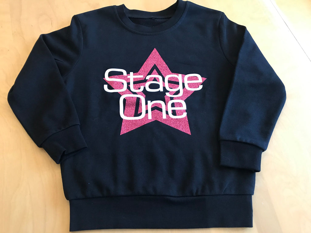 Stage One Beginners to Stage Sweatshirt - Pink Star