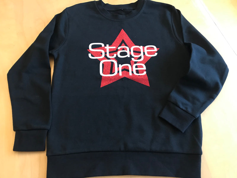 Stage One Theatre School Sweatshirt Red Star