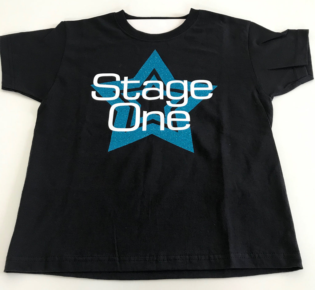 Stage One Uniform - Beginners to Stage & Theatre School T-shirt - Blue Star
