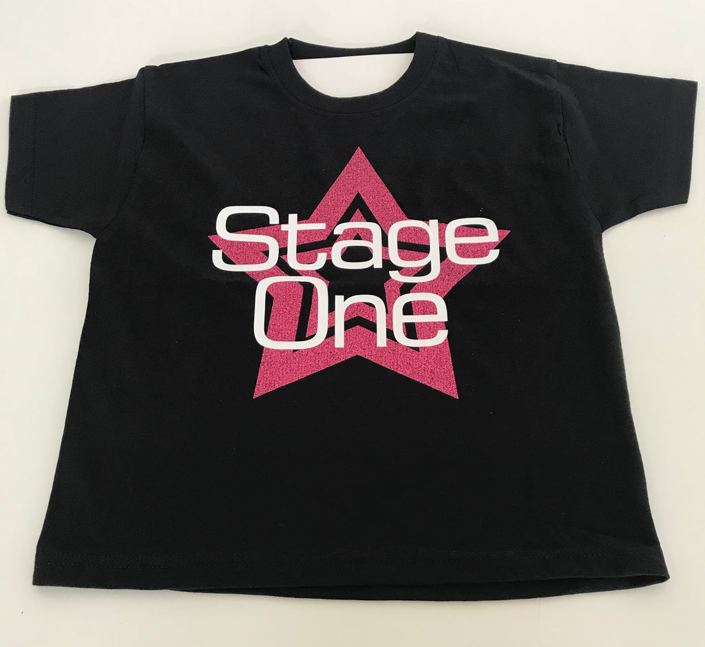 Stage One Uniform - Beginners to Stage T-shirt - Pink Star