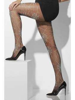 Tights with Spiderweb Design