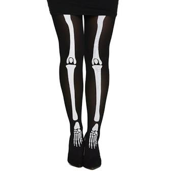 Tights with skeleton design