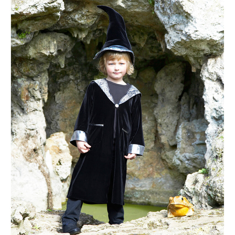 Wizard cloak with crooked hat