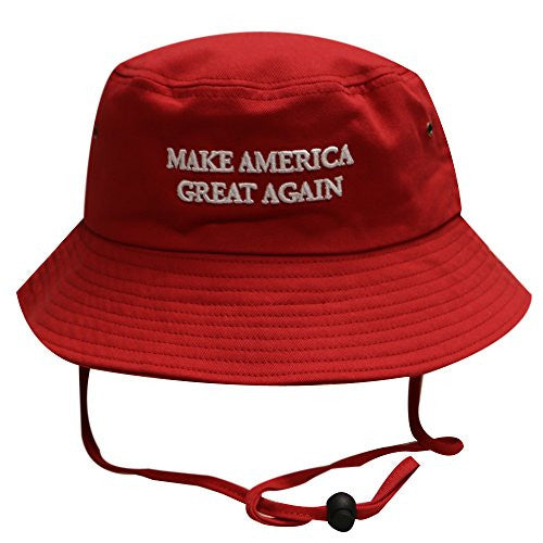 Bold Trump Make America Great Again Bucket Hat Red