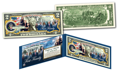 THE FIRST FAMILY of the United States Genuine Legal Tender $2 Bill