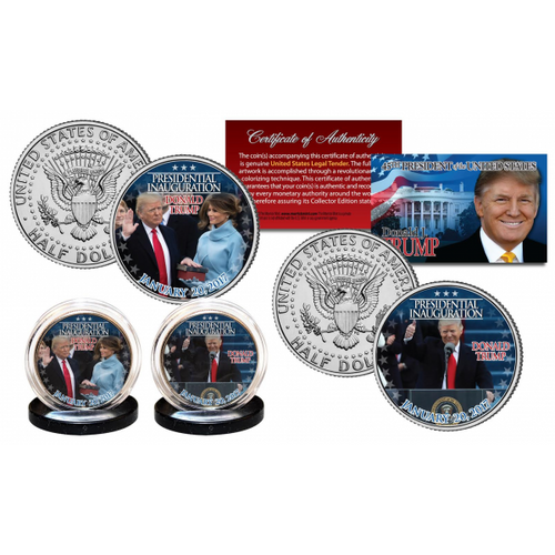 Donald Trump Presidential Inauguration 2-Coin Half Dollar Set