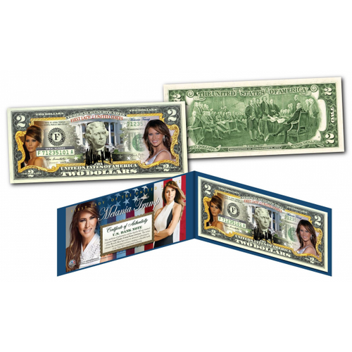 MELANIA TRUMP First Lady OFFICIAL Genuine Legal Tender U.S. $2 Bill