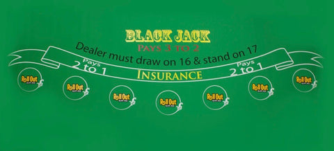 Rollout Rubber Bottom Blackjack Table Top