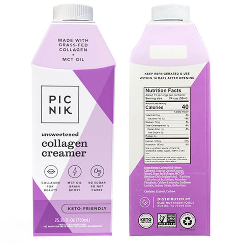 Picnik Collagen Creamer front and back of box