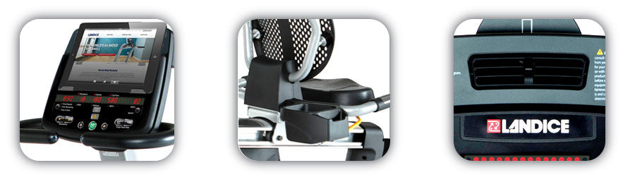 Landice recumbent bike features