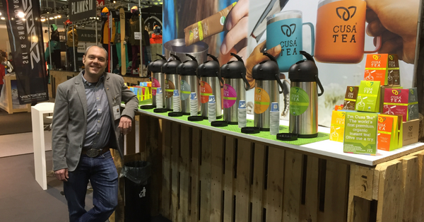Cusa Tea attends the world's largest outdoor retail trade show in Munich, Germany!