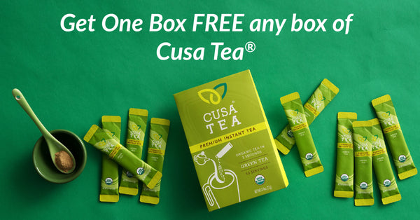 Coupon for a FREE Box of Cusa Tea