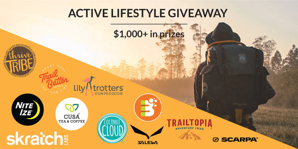 Active Lifestyle Giveaway list of brands