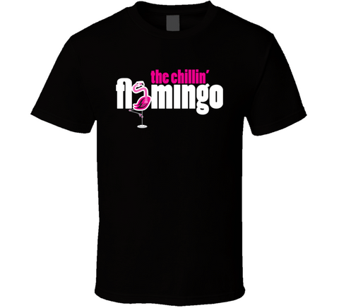 Chillin' Flamingo logo T Shirt