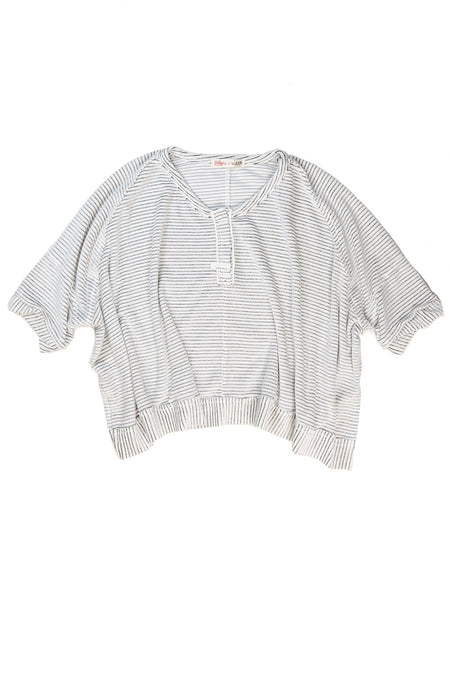 L/s Gathered Tie Front Tee