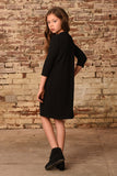 3/4 Slv Fitted Medi Dress