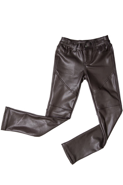 Faux Leather Jean