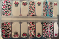 Minnie Zebra Nail Wraps #304