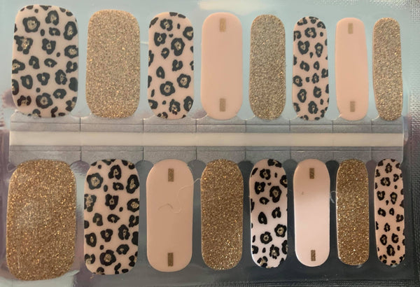Pale Pink Cheetah Nail Wraps #310