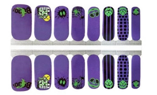 Boo to you Glow in the Dark Nail Wraps #332
