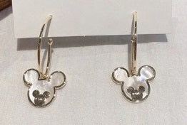 #406 Gold Mickey Dangle Earrings