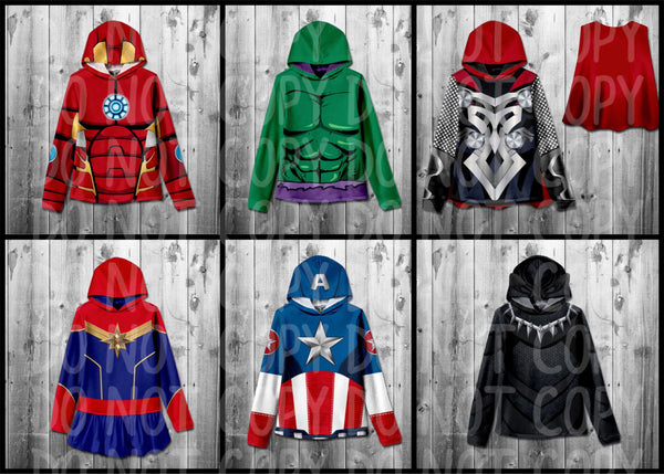 #3070- Avenger Hooded Tops (Adults)