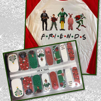 HK Custom Nails Friends Christmas #C3