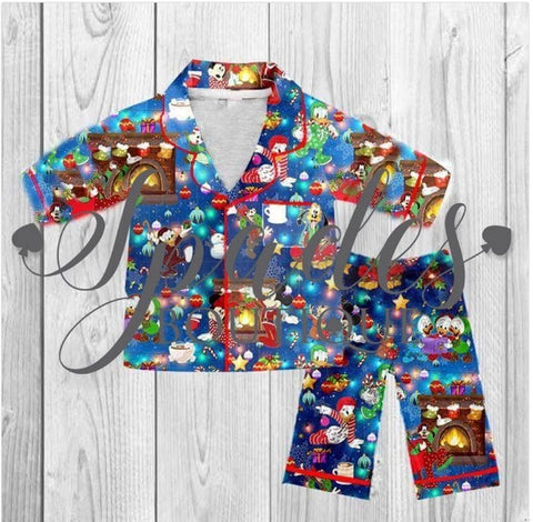 RTS- Mickey and Friends Christmas Pj's ADULT
