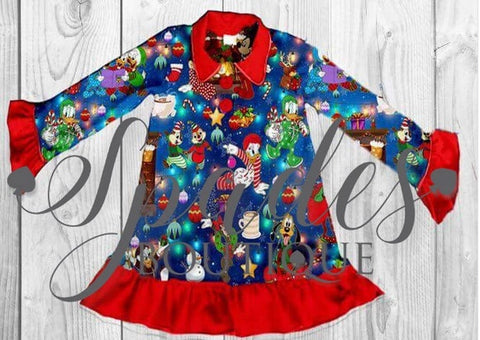 RTS- Mickey and Friends Christmas Nightgown Size 5/6