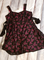 GU- Size Adult 26 - Pink / black Mickey dress TORRID