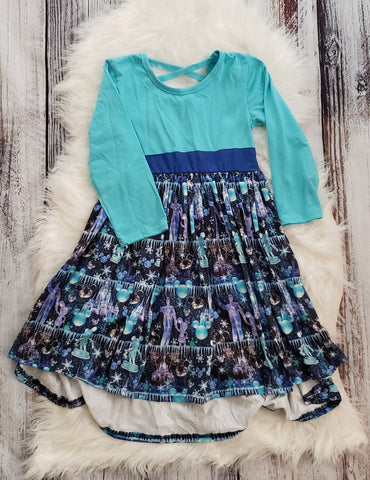 RTS: # 57 Size: 6/7 Disney Ice Cross Back Dress