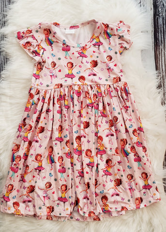 RTS: # 56 Size: 6/7 Fancy Nancy Twirl Dress