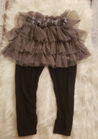 Size 6 - Black pants with attached skirt GU #90