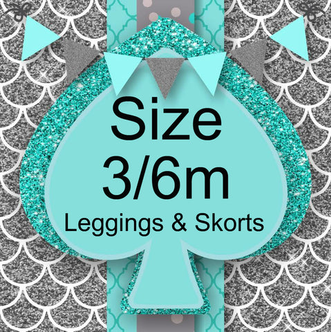 RTS- Size 3/6m Leggings and Skorts