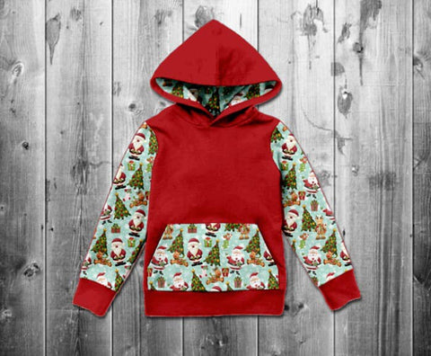 RTS- Kids Classic Santa Hooded Top