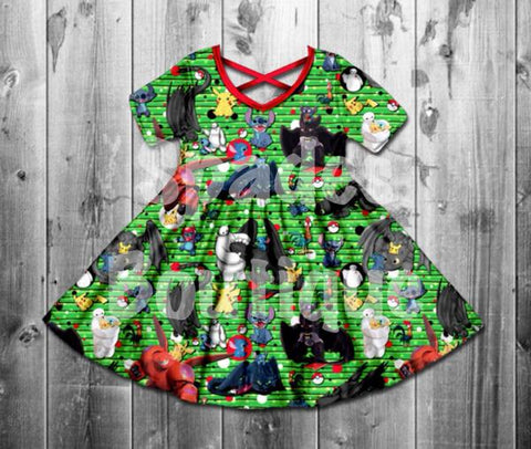 RTS- All about the boys twirl Dress