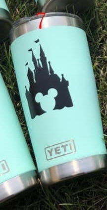 RTS- Yeti Inspired 20oz Proncess Castle Teal Cup