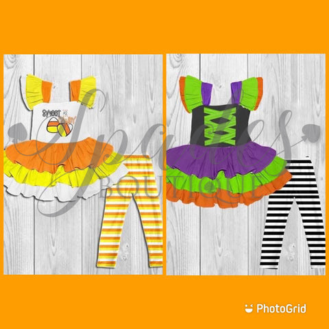 #1613- Witch & Candy Corn Sets