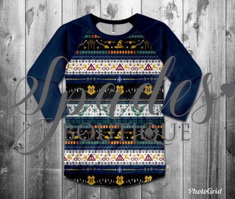 RTS- Harry Potter Christmas Sweater ADULT Top