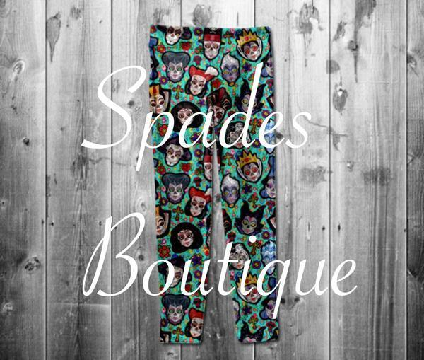 #460- Villian Sugar Skull Leggings