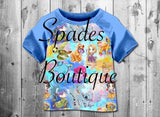 RTS- Watercolor Disney Kids Top 4T