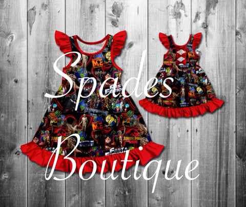 RTS- Universal Bow Back Dress Size 4T