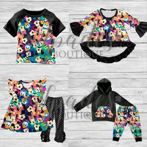 #1281- Multi Color Minnie & Mickey