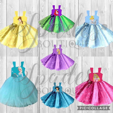 #1342- Princess Tulle Dresses
