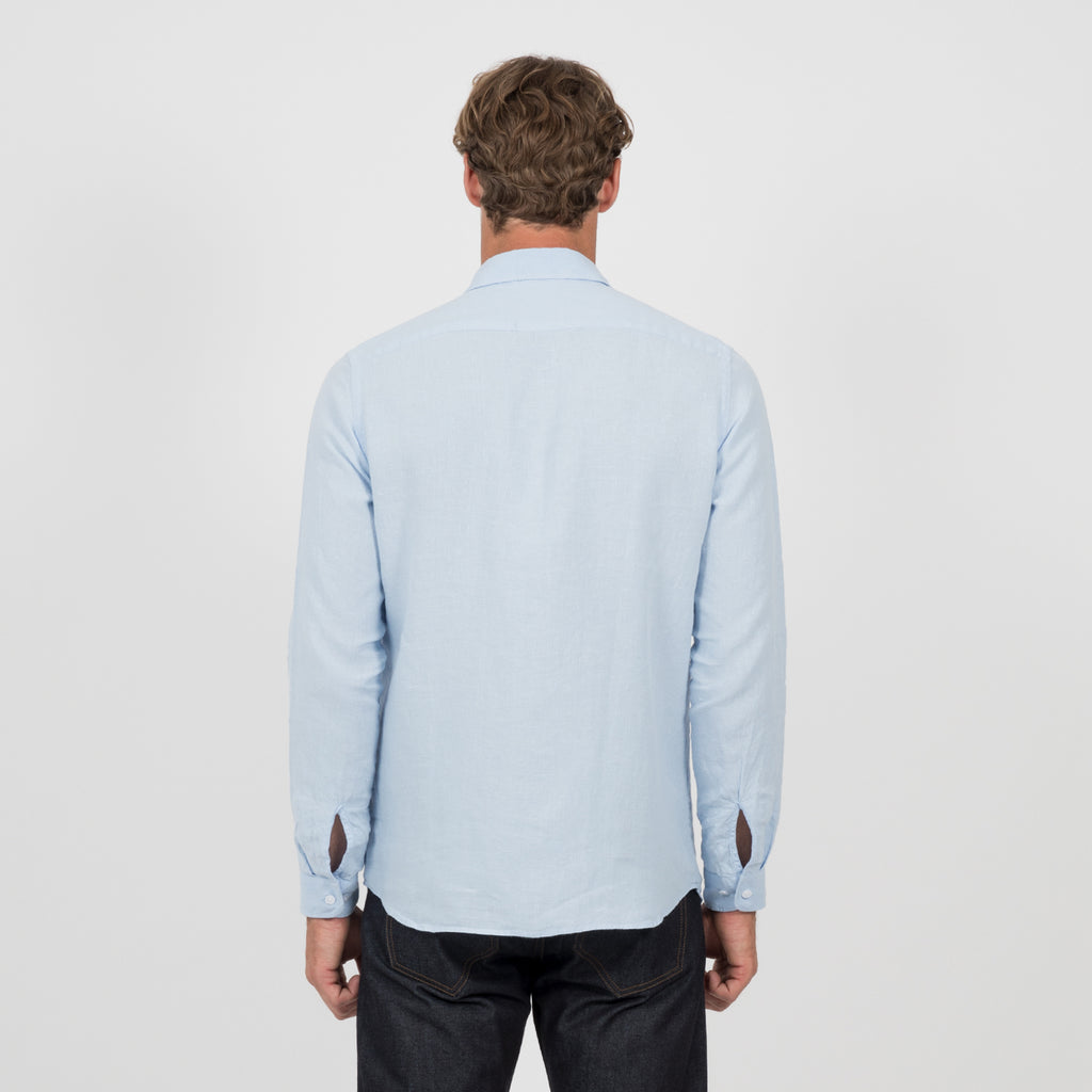 Mens Linen Shirt - Sky Blue