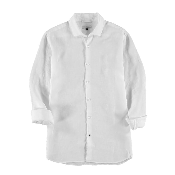 Mens Linen Shirt - White