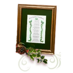 Mooney TunCo Merry Christmas from Heaven 8 x 10 Green Matte Framed Poem Retired - Centerville C&J Connection, Inc.